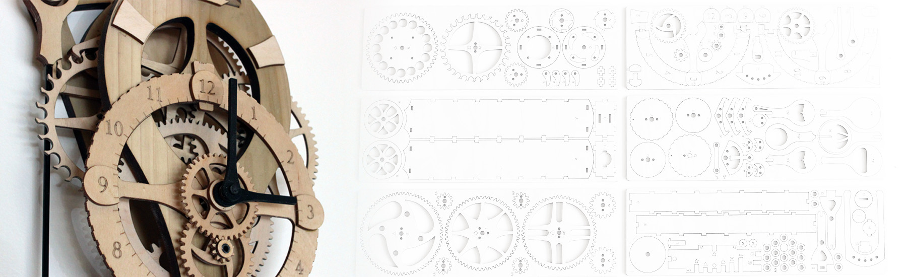 wooden clock by abong
